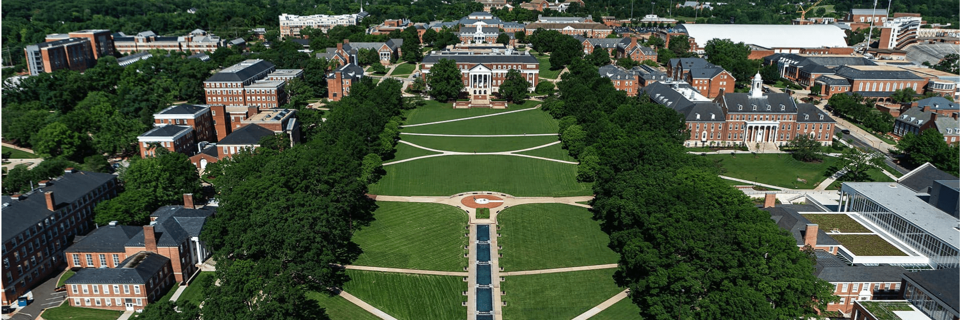 Overhead shot of McKeldin Mall during the day